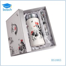 Gift set packaging ceramic pen personalized cup set with pen