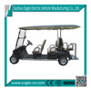 6 seater electric club car 4x4 golf carts electric pick up vehicle cheap electric car four wheel with long roof EG2048KSF