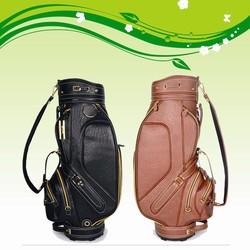 Cheap Wholesale PU leather golf bag soft felling