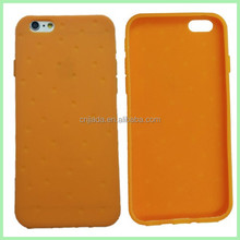 for iphone 6 Silicone Rubber black Cover 2015 new product