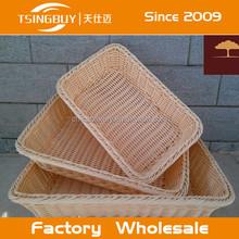 Eco- amichevole e usa e getta hadicarft fatti a mano pp cestini di plastica/pp cestino del pane/paglia cestino del pane