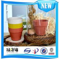 Factory wholesale biodegradable Round plant fiber flower pot