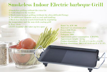 High efficiency In black color 1700 W Non-stick indoor electric BBQ grill
