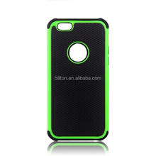Three in one phone case , football lines silicone+pc case for apple iphone 6 phone case