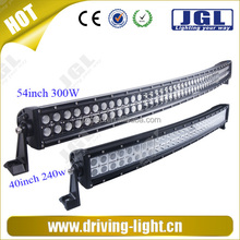 headlight bar for heavy vehicles 300w led lighting bar with alluminum housing, double row led headlight 54inch ISO, RoHS