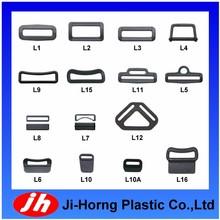 Plastic bag parts webbing loop buckle series for bag backpacks and seat belt