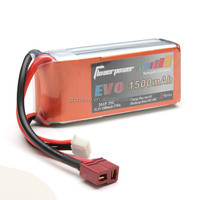 FlowerPower EVO 3S 1500mAh 35c 3S1P LiPo Battery For RC Models