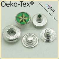 custom printed pearl spring snap fastener