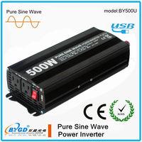 500 watt dc to ac power inverter, solar power inverter, pure sine wave inverter china manufacturer (BY500U)