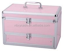 custom aluminum cosmetic case/cosmetic display case/beauty cosmetic case