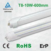 TUV SAA CE LED T8 T10 Tube for 60cm 2ft 10W Fluorescent tube light fixtures