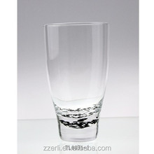 Clear water cup/beer glass with thick and black/dark dots base