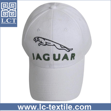 Wenzhou factory direct supply top quality 3D embroidery stretch brushed white cotton baseball cap for car sport racing(LCTC0264)