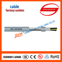 Double PVC jacket,tinned copper braid shieled flexible control cable