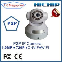 Wireless wifi PTZ IP Cam with P2P function, two way audio