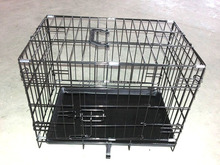 CQX-9000 double doors metal wire mesh pet crate with removable tray