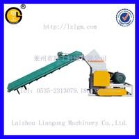 PP PE plastic film Crusher with conveyor belt/plastic film crushing and washing machine