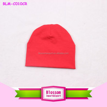 2015 Hot sales! Charming Solid red Color cotton wholesale baby hat wholesale