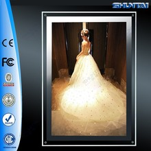 Super slim transparent picture lighted LED acrylic panel display