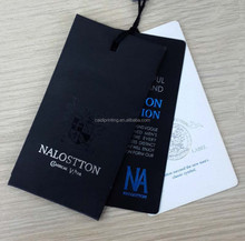 Wholesale popular custom paper hang tags for clothing