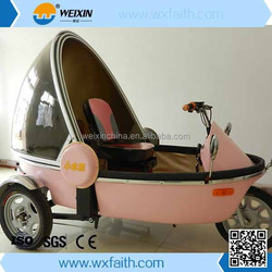 2015 hot sell fully closed three wheel electric car