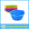 Collapsible silicone pet bowls feeders with FDA approval