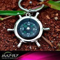 compass metal keychain;Nautical style metal keychain;custom logo metal keychain