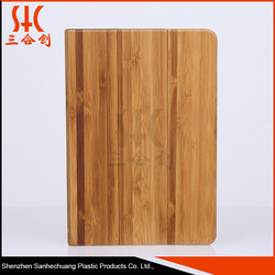 SZSHC13 dirt resistant bamboos wood leather protective case for ipad