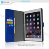 leather movable case for ipad air ,for ipad air wallet detachable card slots case