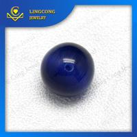 spherical cut cat eye shaped beads royal blue gemstone