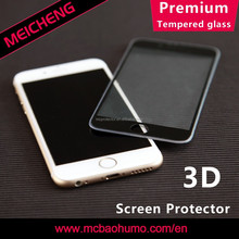 creative 0.33mm tempered glass 9H hardness 3D silicone screen protector for iphone 6 plus