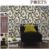 Modern damask decorative wallpaper for bar or coffee shop