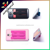 China Factory 3M Smart Silicone Mobile adhesive wallet with stand