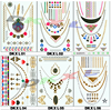 Newest design body temporary tattoo stickers ,flesh Jewelry metallic temporary tattoo,gold necklace Sexy tatoo sticker