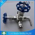 Acero inoxidable unión aguja muestrario capó tipo válvula oxígeno