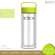 Fashional Pyrex Glass Fruit Infuser Water Bottle