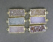 New!! natural gold filled agate druzy connectors with two loop, fashion bracelet connectors