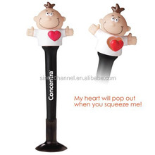 hot sale new product promotion red heartbeat stylus pen