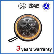 7 inch high beam Auto LED lighting for harley meet E-mark SAE standard