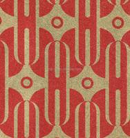 Red unique design 3d metallic wallpaper decorative