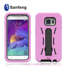 Kickstand Double Layer Hybrid Hard and Soft Skin Silicone Case for Samsung Galaxy S6 Armor Case