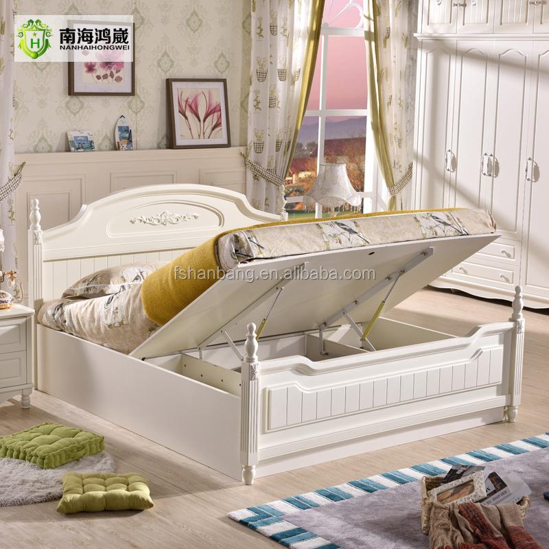 Blanco al por mayor juego de dormitorio muebles de estilo rural ...