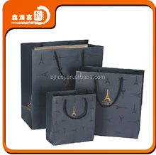 high quality luxury apparel packaging paper bag with handle