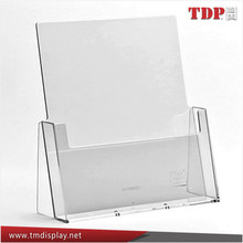 Manufacturer A6 A5 & A4 Acrylic Leaflet Holders, Counter Display Stand Flyer Menu Retail Dispensers, Acrylic Brochure Holders