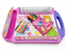 Design multicor com placa de armazenamento de conjuntos de arte para o bebê aprender& desenho educação brinquedo doard