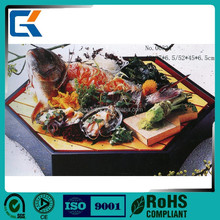 Painted hexagonal japanese sushi tools health wooden sushi plate for sale
