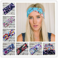 New Design Fancy Elastic Knot Headband Wide Head Wrap