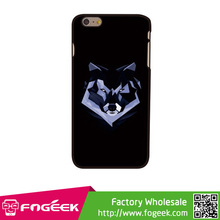 Fast Ship Fashion Cheap Fierce Wolf Case Stylish Cool Plastic Hard Case for iphone 6 plus
