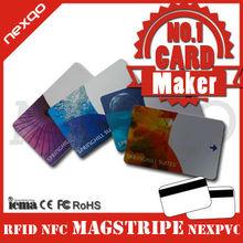 CR80 PVC Laser code Card for business 1k memory rfid card