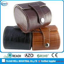 pu leather handmade luxury wood leather watch display case for sale